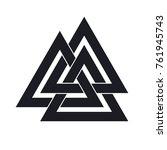 valknut. interwoven triangles....   Shutterstock .eps vector #761945743