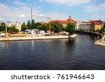 canal in berlin  germany | Shutterstock . vector #761946643