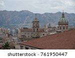 sicilian town of palermo... | Shutterstock . vector #761950447