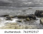 st mary's lighthouse during a... | Shutterstock . vector #761952517
