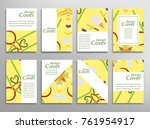set of a4 cover  abstract... | Shutterstock .eps vector #761954917