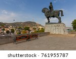 a view on the old city .... | Shutterstock . vector #761955787
