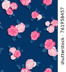 seamless floral pattern in... | Shutterstock .eps vector #761958457
