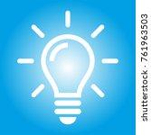 light bulb icon | Shutterstock .eps vector #761963503