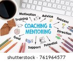 coaching and mentoring concept. ... | Shutterstock . vector #761964577