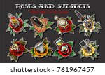 vector roses and subjects... | Shutterstock .eps vector #761967457