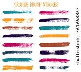 modern watercolor daubs set ... | Shutterstock .eps vector #761968867
