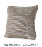 soft knitted pillow  isolated... | Shutterstock . vector #761969527