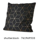 soft black pillow  isolated on... | Shutterstock . vector #761969533