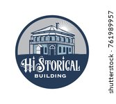 abstract historical building... | Shutterstock .eps vector #761989957