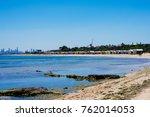 brighton beach and colorful...   Shutterstock . vector #762014053