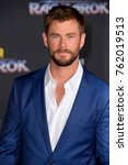 "Small photo of LOS ANGELES, CA - October 10, 2017: Chris Hemsworth at the premiere for ""Thor: Ragnarok"" at the El Capitan Theatre"