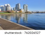 a large urban city with modern... | Shutterstock . vector #762026527