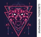 Wild Wolf In Sacred Geometric...