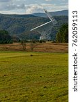 Small photo of Green Bank, West Virginia - October 15, 2017 - The Robert C. Byrd Green Bank Telescope (GBT) located at the Green Bank Observatory points skyward listening for signals from deep space.