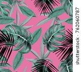 leaves pattern design ... | Shutterstock . vector #762060787