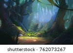 enchanted forest game... | Shutterstock . vector #762073267