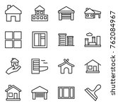 thin line icon set   home ... | Shutterstock .eps vector #762084967