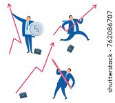 the business improve and growth ... | Shutterstock .eps vector #762086707