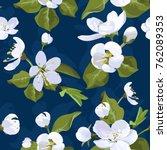 apple blossom vector seamless... | Shutterstock .eps vector #762089353
