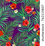 tropical seamless pattern... | Shutterstock .eps vector #762115837