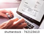close up of businessman's hands ... | Shutterstock . vector #762123613