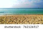 landscape sea beach with sky...   Shutterstock . vector #762126517