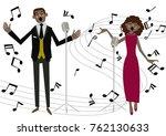 music clip art.gospel. jazz... | Shutterstock .eps vector #762130633