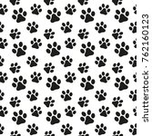 seamless pattern in the dog's... | Shutterstock .eps vector #762160123