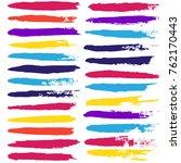 brush strokes set backgrounds.... | Shutterstock .eps vector #762170443