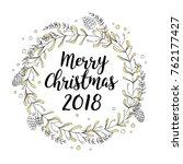 laurel wreath made with hand...   Shutterstock . vector #762177427