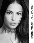 young woman beauty portrait in... | Shutterstock . vector #762190507