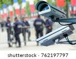 security cctv camera or...   Shutterstock . vector #762197797