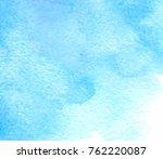 blue color aquarelle hand drawn ...   Shutterstock .eps vector #762220087