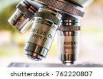closeup of microscope...   Shutterstock . vector #762220807
