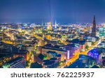 night aerial view of the old... | Shutterstock . vector #762225937