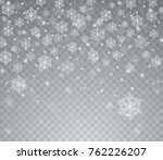 falling shining transparent... | Shutterstock .eps vector #762226207