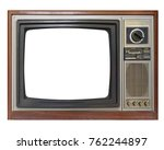 vintage television with cut out ... | Shutterstock . vector #762244897