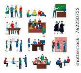 university students set in... | Shutterstock . vector #762250723