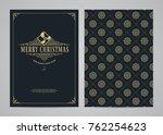 christmas greeting card design. ... | Shutterstock .eps vector #762254623