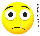 sad face icon with yellow emoji ... | Shutterstock .eps vector #762275827