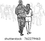 abstract vector of couple... | Shutterstock .eps vector #762279463