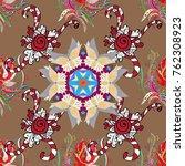 colored mandala pattern  arabic ... | Shutterstock .eps vector #762308923