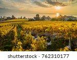 sunset over geneva lake and... | Shutterstock . vector #762310177