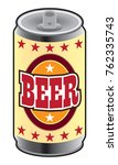 generic can of beer waiting to...   Shutterstock .eps vector #762335743