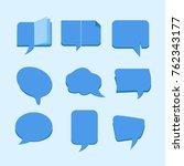 talk bubble set vector | Shutterstock .eps vector #762343177