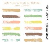 modern watercolor daubs set ... | Shutterstock .eps vector #762346153