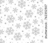 christmas seamless pattern of... | Shutterstock .eps vector #762352507