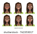 set of emotions and gestures to ... | Shutterstock .eps vector #762353017