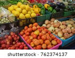 vegetables and fruits in the... | Shutterstock . vector #762374137